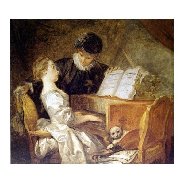 プリハード ジャン・オレノ・フラゴナール 音楽の稽古 F8号 額縁G 4170 ジャン・オレノ・フラゴナールの複製画です。