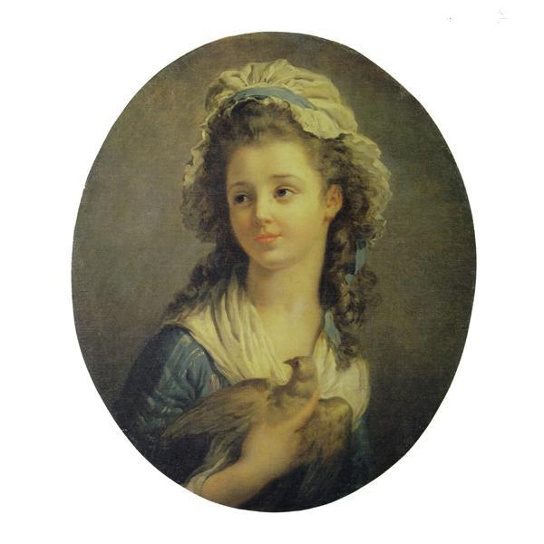 プリハード ジャン・オレノ・フラゴナール 鳩を抱く少女 大全紙 9668B 5381 ジャン・オレノ・フラゴナールの複製画です。