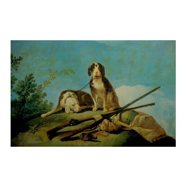 プリハード フランスコ・デ・ゴヤ 猟犬と狩猟具 M12号 額縁B 6734 フランスコ・デ・ゴヤの複製画です。