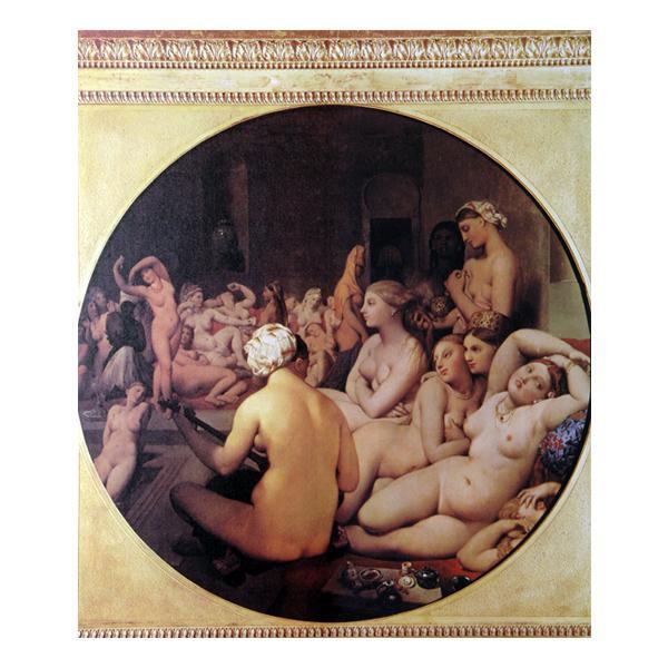 プリハード ドミニク・アングル トルコ風呂 F8号 額縁D 4246 ドミニク・アングルの複製画です。