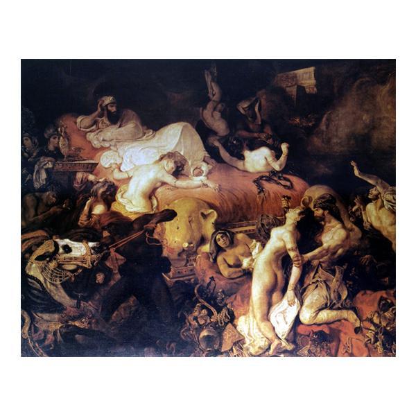 プリハード ウジェーヌ・ドラクロワ サルダナパルの死 P15号 額縁B 7154 ウジェーヌ・ドラクロワの複製画です。