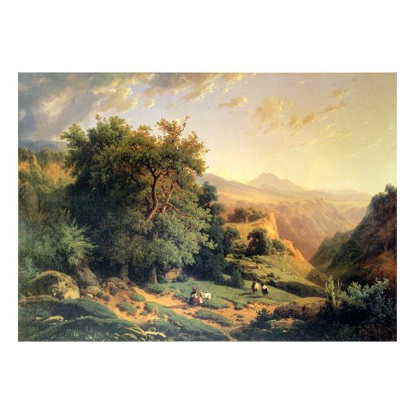 プリハード オーギュスト・ラピト 山の風景 M15号 額縁C 7615 オーギュスト・ラピトの複製画です。