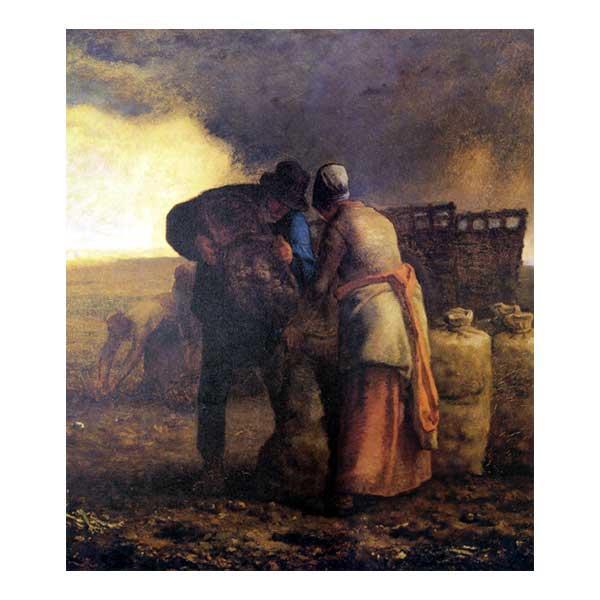 プリハード ジャン・フランソワ・ミレー 馬鈴薯の収穫(部分) F10号 額縁G 5570 ジャン・フランソワ・ミレーの複製画です。