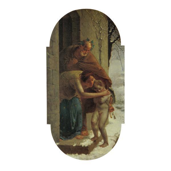 プリハード ジャン・フランソワ・ミレー 冬 M6号 額縁B 3366 ジャン・フランソワ・ミレーの複製画です。