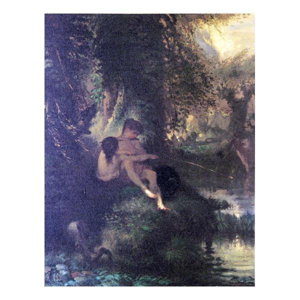 プリハード ジャン・フランソワ・ミレー ダニエルとクロエ F3号 額縁C 1368 ジャン・フランソワ・ミレーの複製画です。