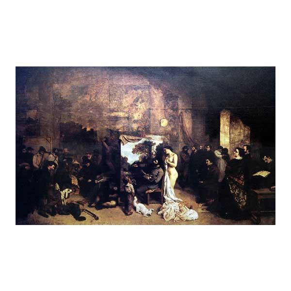 プリハード ギュスターヴ・クールベ 画室 M20B号 額縁C 8193 ギュスターヴ・クールベの複製画です。