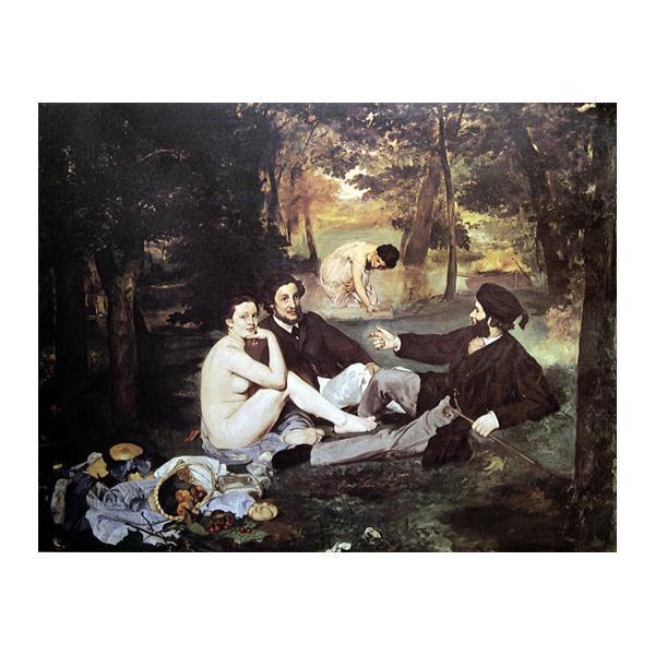 プリハード エドゥアール・マネ 草上の食事 P15号 額縁A 7151 エドゥアール・マネの複製画です。
