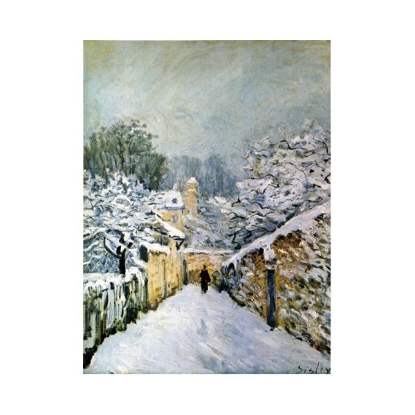 プリハード アルフレッド・シスレー ルーヴシェンヌの雪 F6号 額縁D 3259 アルフレッド・シスレーの複製画です。