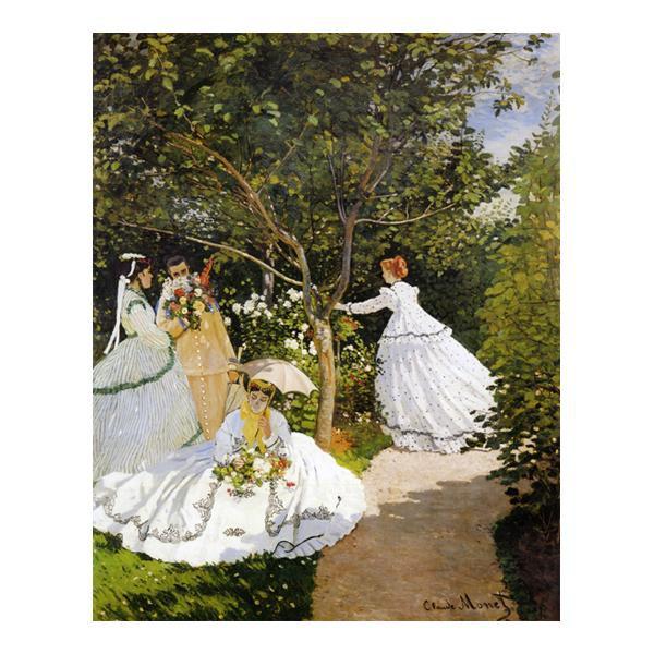 プリハード クロード・モネ 庭の女たち P10号 額縁A 5777 クロード・モネの複製画です。