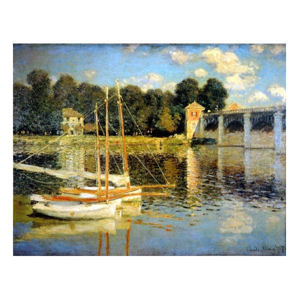 プリハード クロード・モネ アルジャントゥーユの橋 F6号 額縁A 3689 クロード・モネの複製画です。