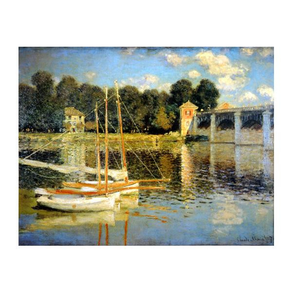 プリハード クロード・モネ アルジャントゥーユの橋 P15号 額縁B 7215 クロード・モネの複製画です。