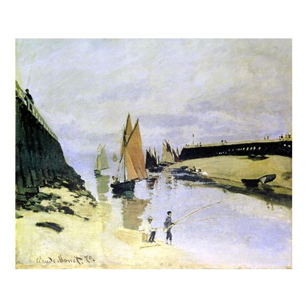 プリハード クロード・モネ トゥルヴィルの港 F8号 額縁D 4441 クロード・モネの複製画です。