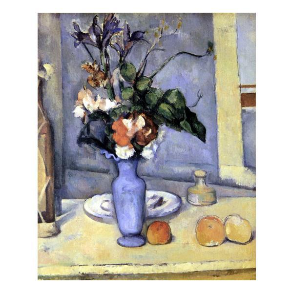 プリハード ポール・セザンヌ 青い花びん F3号 額縁B 1605 ポール・セザンヌの複製画です。