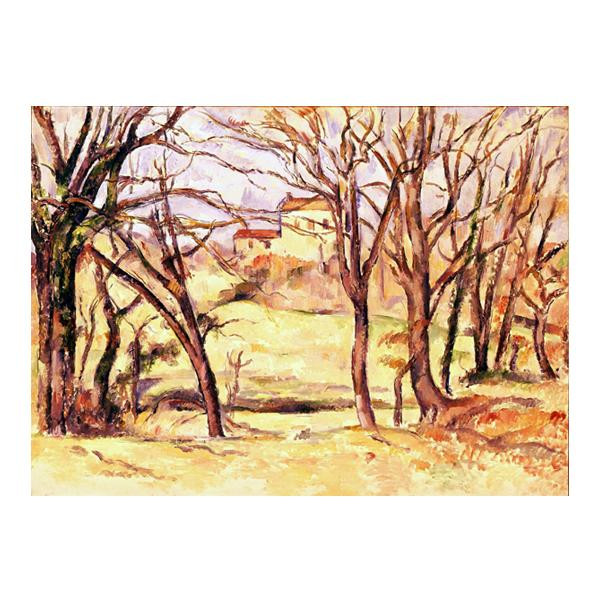 プリハード ポール・セザンヌ ル・トロネ街道沿いの木と家 F6号 額縁G 3222 ポール・セザンヌの複製画です。