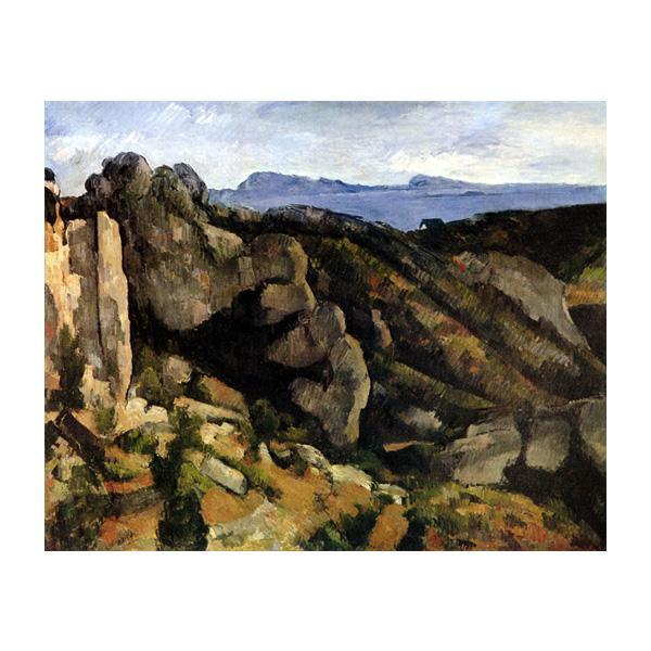 プリハード ポール・セザンヌ エスタックの岩 P10号 額縁G 5505 ポール・セザンヌの複製画です。