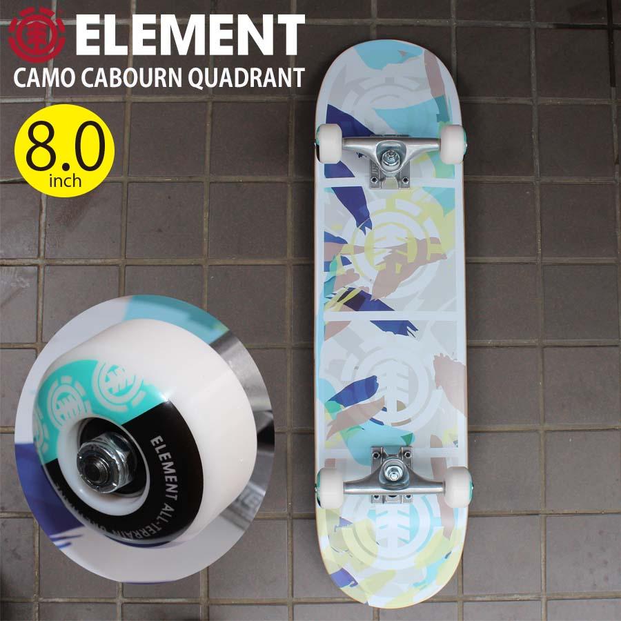 すぐ乗れる有名スケボーブランド エレメントの完成品スケートボード クーポン有 10%OFF 正規品 あす楽 一般男性向け エレメント スケートボード コンプリート 完成品 サイズ 8.0インチ 超特価 BB027-409 CAMO すぐ乗れる 初めて メンズ 初心者 8インチ 8.0inch 新作販売 スケボー BA027409 QUADRANT ビギナー ELEMENT CABOURN