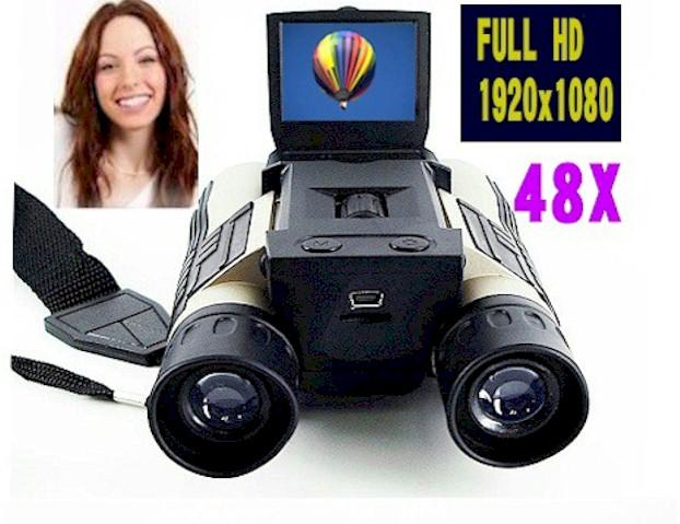 1080Pフルハイビジョンデジタルビデオカメラ双眼鏡/48倍/VPHDCAM5/充電対応/望遠カメラ/セール【Bousai_d19】