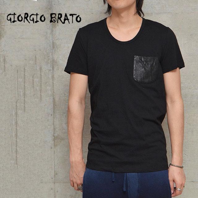 ジョルジオブラット GIORGIO BRATO カットソー 半袖カットソー Tシャツ 半袖 メンズ MENS TX63 NERO【正規取扱店】【返品・交換不可】