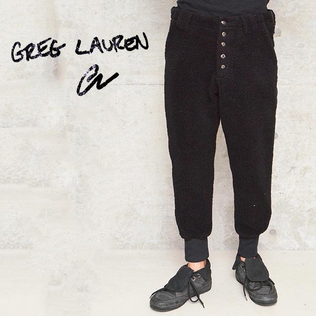 グレッグローレン アーミーパンツ GREG LAUREN PANTS メンズ BLACK FAUX SHEARLING LOUNGE PANT BLACK【カラー:ブラック】【送料無料】【返品・交換不可】