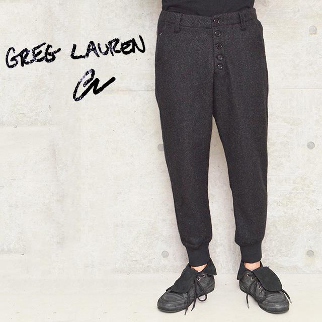 グレッグローレン アーミーパンツ GREG LAUREN PANTS メンズ CHARCOAL HERRINGBONE LOUNGE PANTS CHARCOAL【カラー:チャコール】【送料無料】 【返品・交換不可】