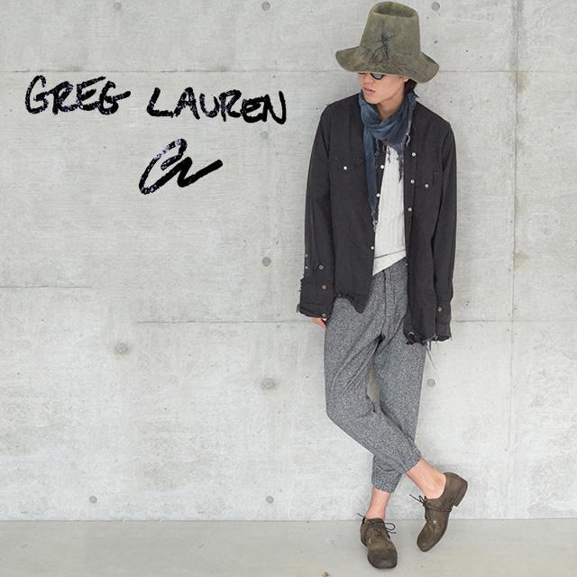 グレッグローレン アーミーパンツ GREG LAUREN PANTS メンズ DONEEAL TWEED LOUNGE PANT GREY【カラー:グレー】【送料無料】 【返品・交換不可】