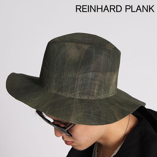 REINHARD PLANK ハット レナードプランク LAILA OPEN/S ストローハット 帽子 天然草 男女兼用 6513971010 CAMO GREY グレー【正規取扱店】