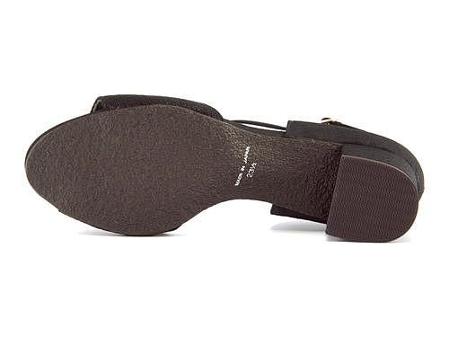パンプス 痛くない 太ヒール 歩きやすい アンクルストラップ 疲れない レディース セパレート オープントゥ クッション性 美脚 カジュアル デイリー トレンド メタルルージュ METAL ROUGE FOG37001 ブラック