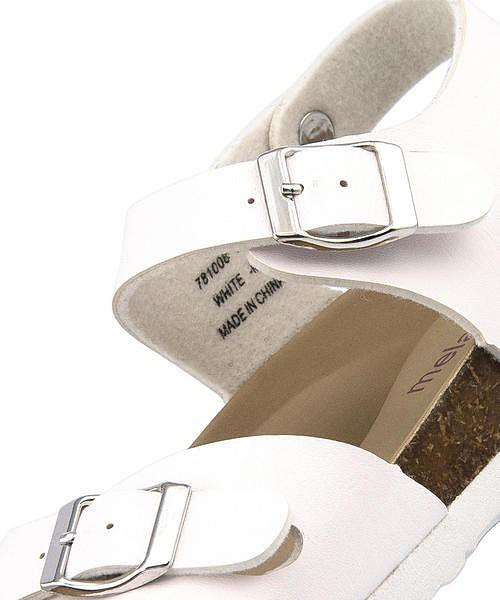 フットベッド サンダル ぺたんこ 歩きやすい 疲れない レディース クッション性 美脚 カジュアル デイリー トレンド メランジェ melange 781008 ホワイト