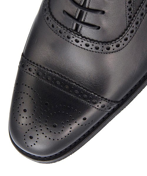 ビジネスシューズ メンズ セミブローグ シーハム クッション性 G カジュアル デイリー オフィス フォーマル ドレス 冠婚葬祭 就活 SEAHAM ロークシューメーカーズ Loake Shoemakers IMLK1013 ブラック5j43AqcRL