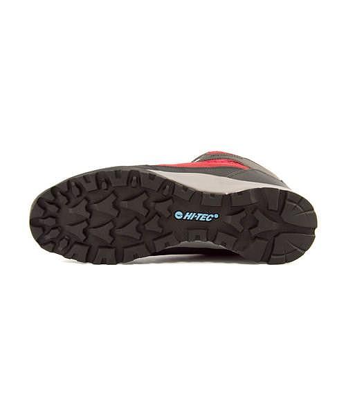 ハイテック ハイカット トレッキングシューズ ブーツ レディース アオラギ ミッド WP 軽量 耐久性 抗菌 防臭 防水 雨 雪 靴 EE カジュアル デイリー トラベル アウトドア ウォーキング AORAKI MID WP HI-TEC HKU06 レッド