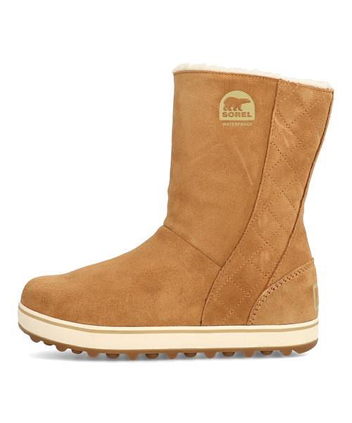 エルク 保温 美脚 カジュアル トラベル デイリー 防水 内ボア あったか ウォーキング ソレル ウィンターブーツ GLACY NL1975 雨 グレイシー 雪 クッション性 SOREL レディース 靴