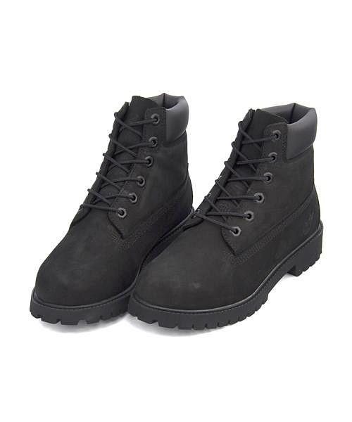 ティンバーランド ワークブーツ レディース 6インチ プレミアム ウォータープルーフ ブーツ クッション性 防水 雨 雪 靴 カジュアル デイリー アウトドア 6inch PREMIUM WATERPROOF BOOT Timberland 12907 ブラック