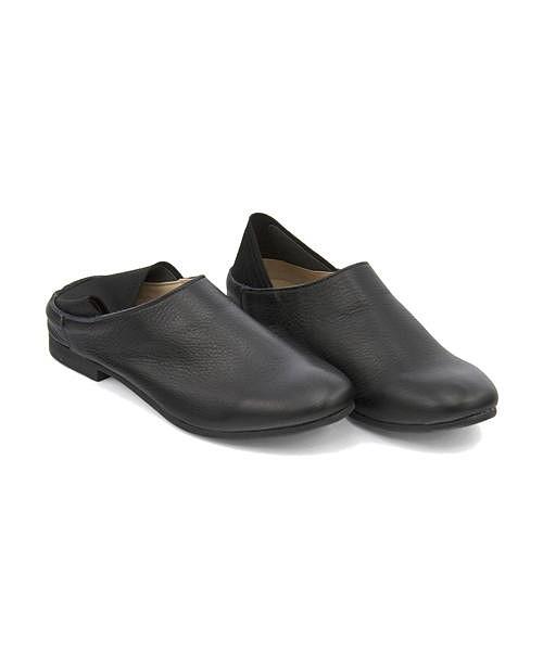 バブーシュ スリッポン ローヒール 歩きやすい 疲れない レディース ゴム付き 軽量 クッション性 美脚 カジュアル デイリー トレンド レシピ Recipe RP-238 ブラック