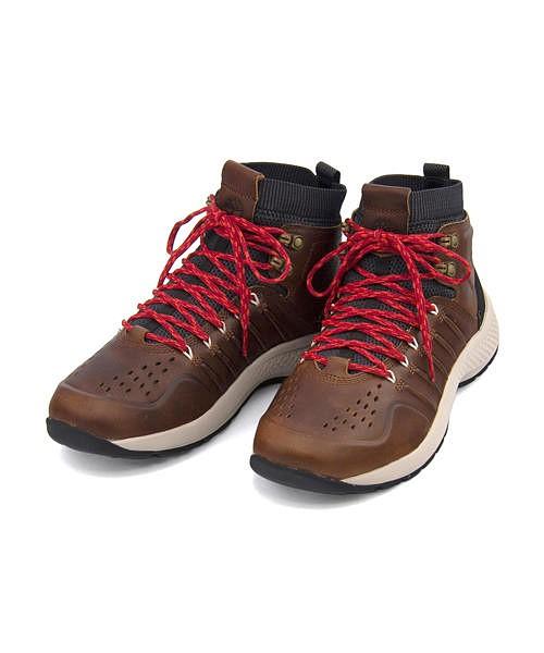 ティンバーランド ブーツ メンズ フライロームトレイル ミッド レザー ブーツ 通気性 クッション性 耐久性 抗菌 防臭 カジュアル デイリー アウトドア FLYROAMTRAIL MID LETHER BOOTS Timberland A1LBW ブラウン