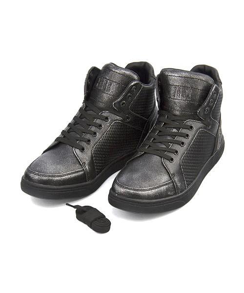 ジェイド ハイカット スニーカー ブーツ メンズ アドベント クッション性 耐久性 3E 幅広 カジュアル デイリー ストリート ダンス ADVENT JADE JD7120 ガンメタ