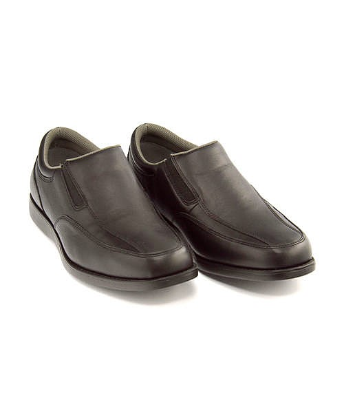 ドクターアッシー コンフォート ビジネスシューズ スリッポン メンズ 本革 クッション性 防水 雨 雪 靴 4E 幅広 カジュアル デイリー オフィス フォーマル 冠婚葬祭 就職活動 Dr.ASSY DR-3022T ブラック