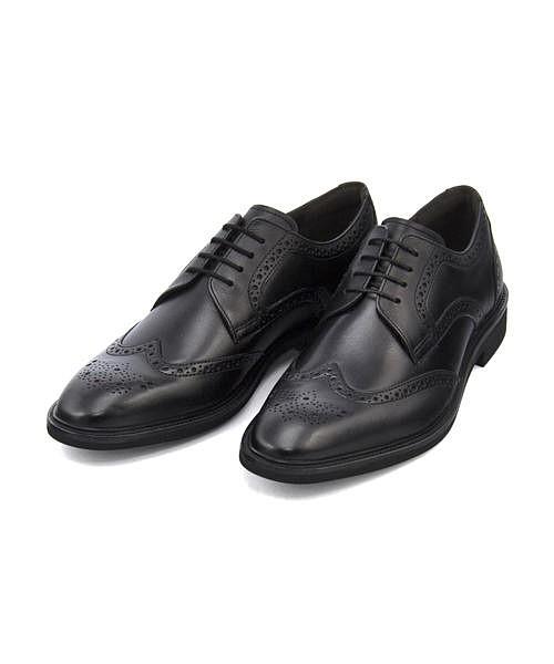 ビジネスシューズ メンズ フルブローグ 軽量 本革 クッション性 カジュアル デイリー オフィス フォーマル ドレス 冠婚葬祭 就活 アビーロード ABBEY ROAD AB7501 ブラック
