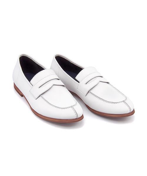 コインローファー メンズ 本革 クッション性 カジュアル デイリー フォーマル ドレス フープディドゥ Whoop-de-doo 307774 ホワイト