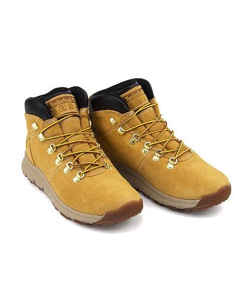 ティンバーランド トレッキングシューズ スニーカー ブーツ メンズ ワールド ハイカー ミッド クッション性 屈曲性 カジュアル デイリー トラベル アウトドア WORLD HIKER MID Timberland A1QEW ウィート