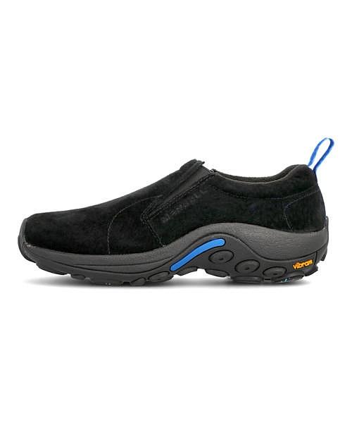 メレル モックシューズ スニーカー メンズ ジャングルモックアイスプラス 並行輸入品 JUNGLE MOC ICE+ MERRELL 高級品 J37827 デイリー 靴 ブラック ウォーキング 雨 雪 トラベル 撥水 クッション性 カジュアル