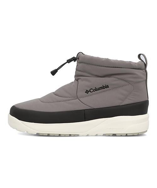コロンビア Columbia スピンリールミニブーツウォータープルーフオムニヒート SPINREEL MINI BOOT 2 WP OMNI-HEAT チャコール メンズ ウィンターブーツ 軽量 クッション性 防水 雨 雪 靴 カジュアル トラベル ウォーキング YU0354