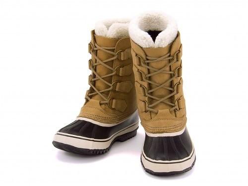 ソレル レディース ウィンターブーツ スノーブーツ 防水 防滑 保温 雨雪靴 1964パック2 SOREL 1964 PAC 2 NL1645 バフ/ブラック