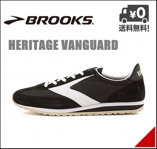 ブルックス メンズ ランニングシューズ スニーカー ヘリテージ ヴァンガード クラシック レトロ D カジュアル デイリー トラベル スポーツ HERITAGE VANGUARD BROOKS 1101661D ブラック/ホワイト