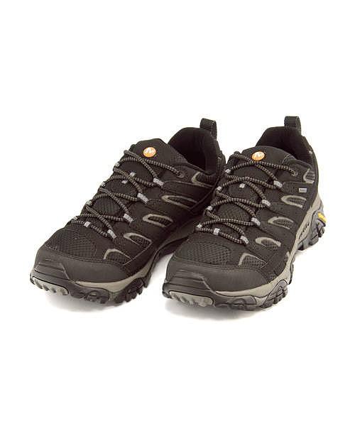 メレル ローカット スニーカー メンズ モアブ 2 ゴアテックス 軽量 通気性 クッション性 耐久性 抗菌 防臭 雨 雪 靴 カジュアル デイリー トラベル レジャー アウトドア ウォーキング MOAB 2 GORE-TEX MERRELL J06037 ブラック