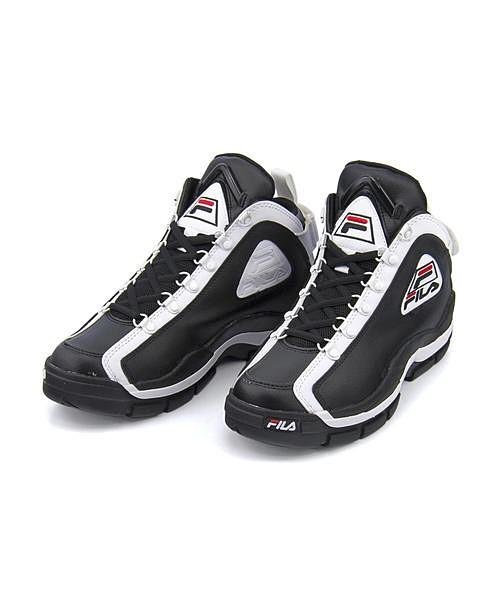 フィラ バスケットボールシューズ スニーカー レディース 96グラントヒル クッション性 美脚 カジュアル デイリー スポーツ ストリート ウォーキング 96 GL FILA FHE101 ブラック