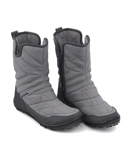 コロンビア スノーブーツ レディース ミンクスリップ3 あったか 保温 軽量 クッション性 防水 雨 雪 靴 美脚 カジュアル デイリー トラベル アウトドア MINX SLIP 3 Columbia BL5959 TIグレースティール
