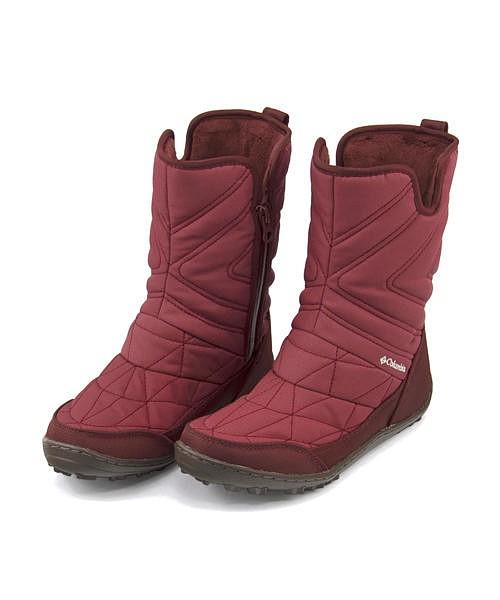 コロンビア スノーブーツ レディース ミンクスリップ3 あったか 保温 軽量 クッション性 防水 雨 雪 靴 美脚 カジュアル デイリー トラベル アウトドア MINX SLIP 3 Columbia BL5959 マルサラレッド