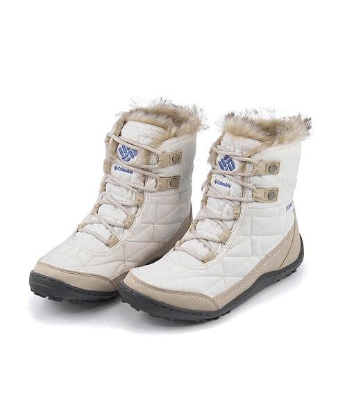 コロンビア スノーブーツ レディース ミンクスショーティ3 内ボア あったか 保温 クッション性 防水 雨 雪 靴 美脚 カジュアル デイリー トラベル アウトドア MINX SHORTY 3 Columbia BL5961 シーソルト/イブ