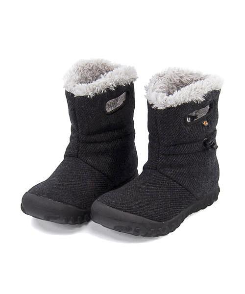 ボグス ウィンターブーツ レディース B-モックウール 内ボア あったか 保温 クッション性 防水 雨 雪 靴 美脚 カジュアル デイリー トラベル アウトドア B-MOC WOOL BOGS 72106 ブラック