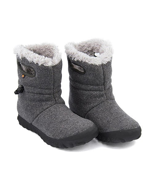ボグス ウィンターブーツ レディース B-モックウール 内ボア あったか 保温 クッション性 防水 雨 雪 靴 美脚 カジュアル デイリー トラベル アウトドア B-MOC WOOL BOGS 72106 チャコール
